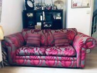 Pink n grey sofa