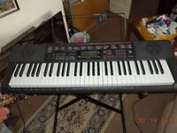 ELECTRIC KEYBOARD CASIO KEY LIGHTING SYSTEM L.K.-160 ON STAND