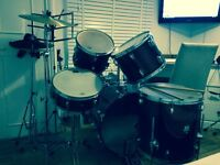 Drumkit and black chair