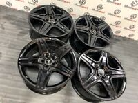 GENUINE MERCEDES 20 ML63AMG ALLOY WHEELS - AVAILABLE WITH TYRES - 5 X 112 - GLOSS CHROME