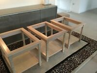 Occasional Glass Tables - 3 side tables & 1 matching coffee table