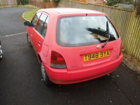TOYOTA STARLET 1999 - ONLY 33000 MILES - 1 OWNER FROM NEW - LOVELY DRIVE AND TOTALLY RELIABLE - £350