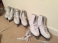 White Figure Skates - Spirit 1/2 Brand (Girls UK 2, 4, 5 - sold separately)