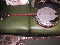 A Remo weather king banjo made in USA,1980 4 string.