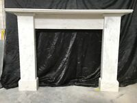 Antique Victorian Marble Fireplace