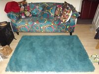 NEW green settee and rug