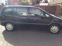 Black Vauxhall Zafira 7 seater