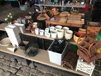 Household bits incl. vases, plant pots, bowls, kitchen items, frames & books needs going ASAP