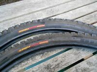 """26"""" KENDA Sport Cruising Bicycle Tyres, front and rear, mint condition"""