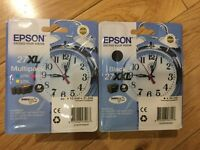 EPSON printer cartridges black and colour