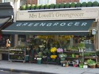 Sales assistant in family greengrocers 35-45 hpw