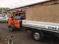 Wood Chipper, Van and Operator for hire