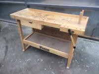 Wooden work bench / workshop / vice / draw