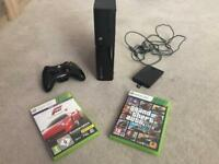 Xbox 360 with accessories