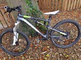C Boardman full suspension mountain bike