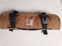 *AS NEW* Carhartt tool wrap kit storage canvas protector accessory brown duck mustard