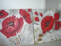 2 X LARGE CANVASES