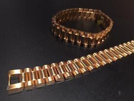 Rolex style presidential bracelet
