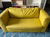 Yellow IKEA sofa bed