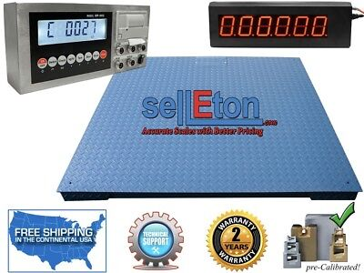 Heavy Duty Warehouse Floor Scale 7 X 7 84 20000 Lbs X 5lb Led Scoreboard
