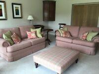 2 matching 3 seater sofas