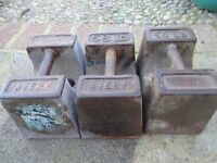 VINTAGE AVERY 56lb WEIGHTS x 3