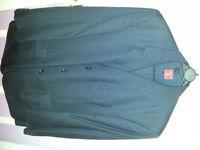 Burton 3piece Suit Navy Blue White Pinstripe