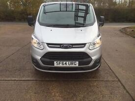 Ford transit panel van with windows in the side