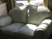 For sale. Two seater sofa and two armchairs, virtually brand new.