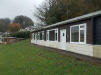 Brick chalet long lease 12 month park ideal sublet pet friendly park Devon,nr Cornwall