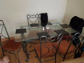For sale table and 6chair