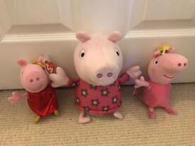 Peppa pig plush toys