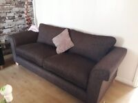 Can deliver john lewis 3+4 seater brown cord fabric sofas very good condition