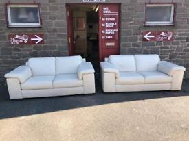 Pair of Leather sofas * free furniture delivery *