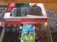 Nintendo Switch + Zelda for sale