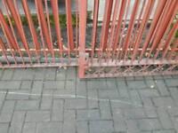 Metal double door driveway gate