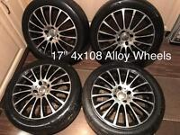 """Team Dynamic Racing 17"""" 4x108 Alloy Wheels"""