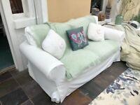 White Ikea Ektorp 2 seater sofa