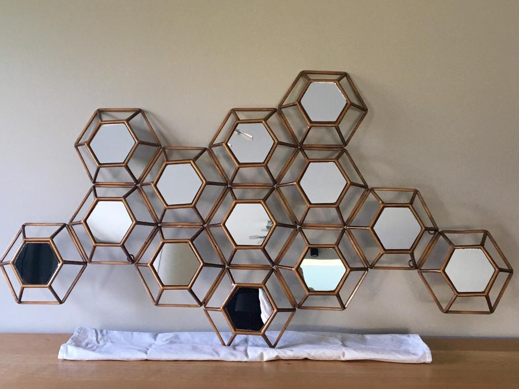 Gold Metal Framed Decorative Wall Mirror Wall Art In St Albans Hertfordshire Gumtree