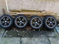 Mx5 fox alloys with as new tyres