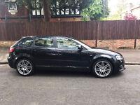 Audi A3 1.6 TDI S LINE Black 5dr Sportback 2009 Sport Hatchback Diesel FSH START / STOP £20 Road Tax