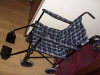 Lightweight Folding Wheelchair / Transport Chair by Coopers Of Stortford - Great Used Condition