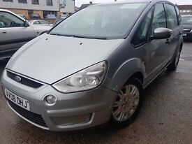 FORD S MAX 2008 1.8 TDCI METALIC SILVER 7 SEATER