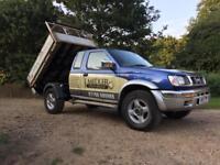 Nissan Navara 4x4 TIPPER long Mot tipping truck no vat