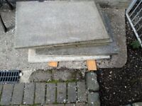 5 grey slabs free to uplift.