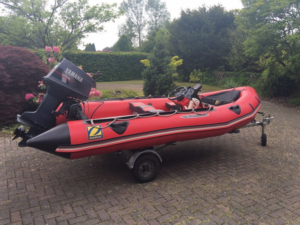 Zodiac Futura S Inflatable Boat Dinghy 40hp Outboard Motor