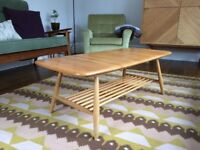 Ercol blond blue lable coffee table excellent condition