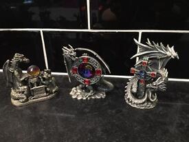 11 Dragon figures - Tudor Mint