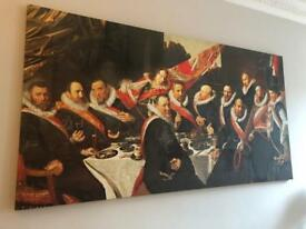 Large Franz Hals Print on Canvas