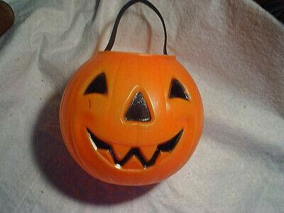 "JACK O'LANTERN 6"" HALLOWEEN TRICK OR TREAT PAIL,VINTAGE,Pumpkin,candy,small,mini"
